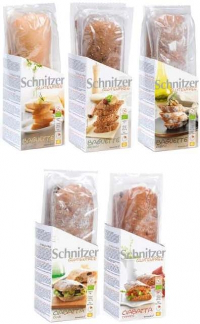 Schnitzer Gluten Free Organic Baguette And Ciabatta Sampler Box - Schnitzer gluten free